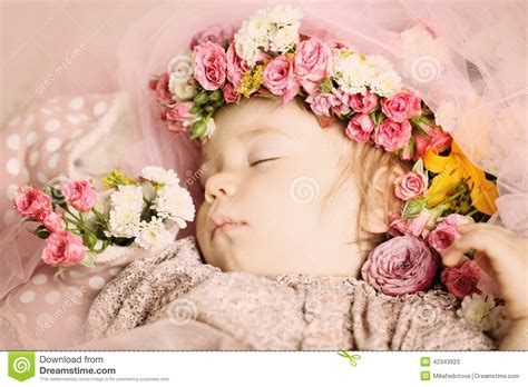 beautiful baby photos with flowers beautiful baby with flowers stock image image 42343923