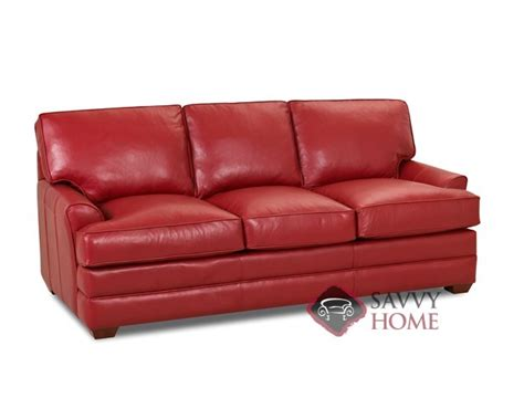 gold coast leather sofa by savvy is fully customizable by