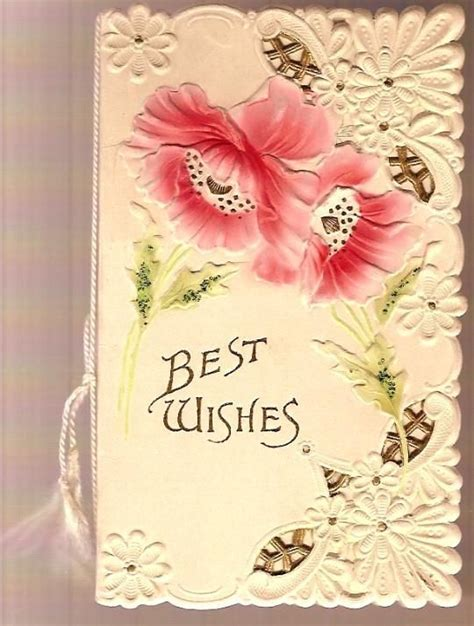 vintage greeting cards   Vintage Victorian Die Cut Best