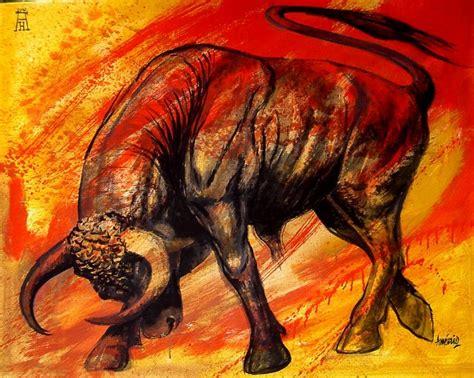 imagenes toros abstractos americo hume obra de arte toro furioso artistas y arte