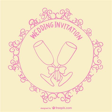Wedding Card Toast by Wedding Toast Invitation Card Vector Free