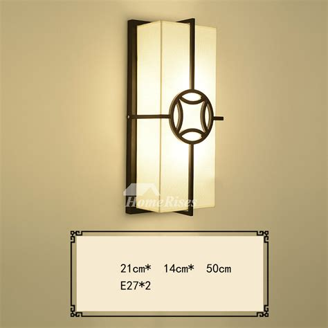 wall sconce lights fabric wrought iron rectangule bathroom