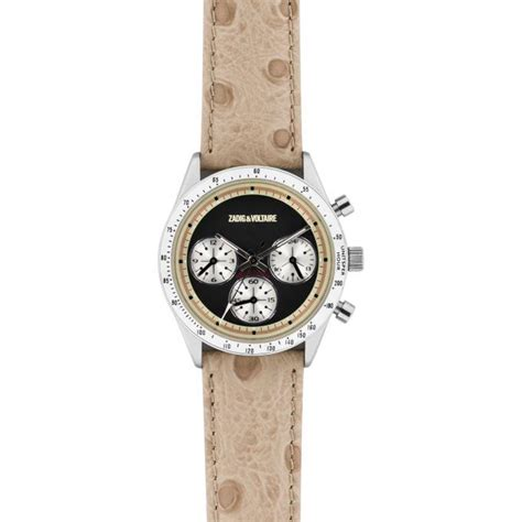 montre zadig et voltaire master zvm104 montre beige cuir femme sur bijourama montre femme