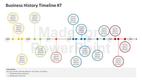 powerpoint templates free timeline business history timeline editable powerpoint template
