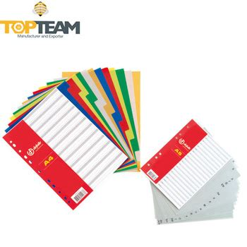 Pen Paper Inter X Folder Index Divider 5 Tabs A4 price color index tab dividers pp plastic file dividers buy index tab dividers index tab