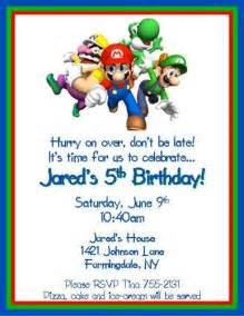 mario brothers personalized birthday invitations digital file thenotecardlady cards