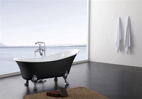badewannen kaufen freistehende badewanne bs 830 schwarz 176x71cm inkl