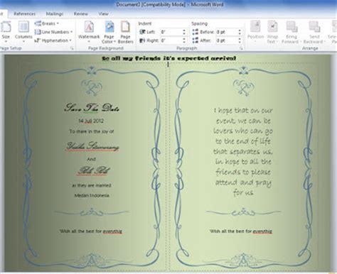 pattern undangan photoshop tutorial cara membuat undangan dengan microsoft word