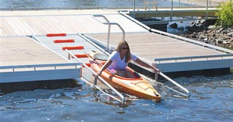 canoe beach boat launch the dock doctors launch dock systems for kayak and