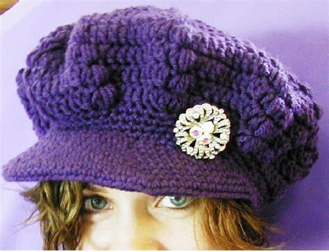 free pattern newsboy hat positively crochet free cochet pattern