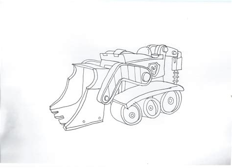 paw patrol vehicles coloring pages paw patrol rubble s car by pawpatrolfan66 on deviantart