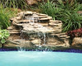pool fountains and waterfalls swimming pool rock waterfalls kits fountains and boulders