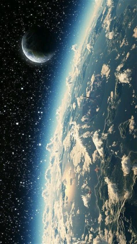 cosmos sci fi earth atmosphere moon plantets star sunlight how clouds look from space image 4311299 by