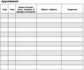 appointment sheet template free printable appointment sheet templates