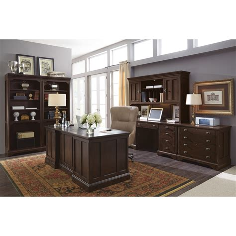 flexsteel wynwood collection walnut creek executive desk
