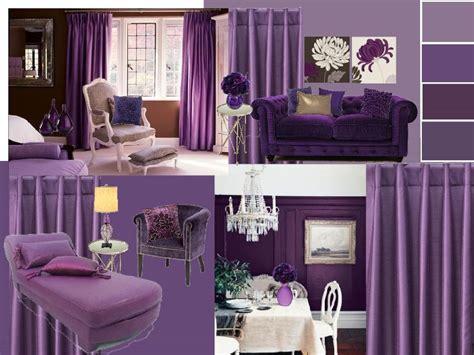 Purple Colour Combination For Living Room - interior design creating a purple color scheme