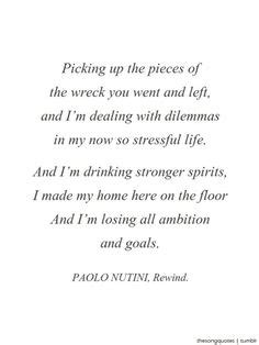 paolo nutini rewind testo 1000 images about quotes lyrics on