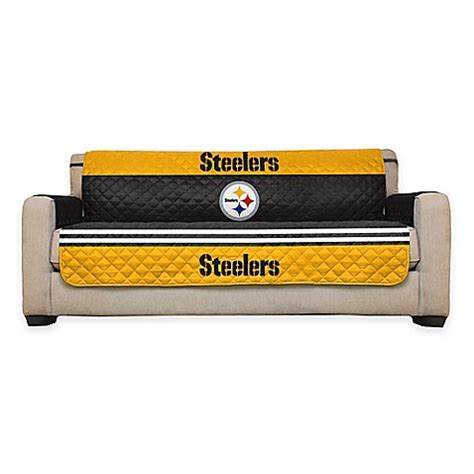 bed bath and beyond pittsburgh nfl pittsburgh steelers sofa cover www bedbathandbeyond com