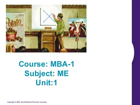 Mba Units by Mba 1 Me U 1 1 Introduction