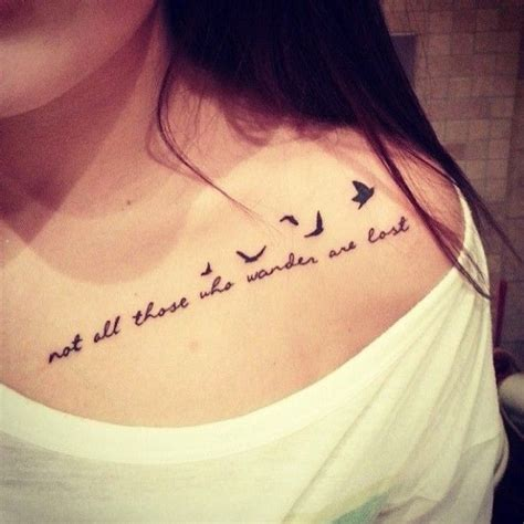 tattoo font bird not all those who wander are lost lettering with flying