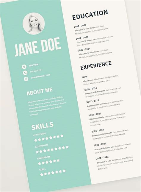 graphic design templates free 17 best ideas about graphic designer resume on