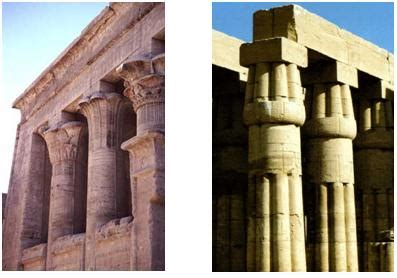 imagenes de columnas egipcias arquitectura egipcia historia del arte