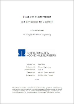 Word Vorlage Masterarbeit Vorlage F 252 R Meine Masterarbeit An Der Ohm Hochschule N 252 Rnberg Stefan Macke