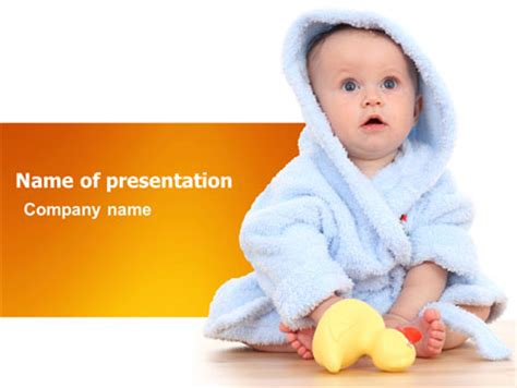 Little Baby Powerpoint Template Backgrounds 03426 Poweredtemplate Com Pediatric Powerpoint Templates Free