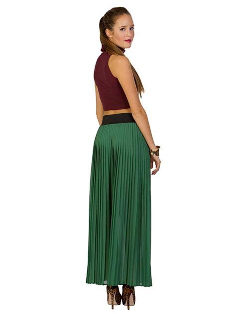 Kr6 Maxi Savirna Green shop solemio pleated maxi skirt sabrina s closet