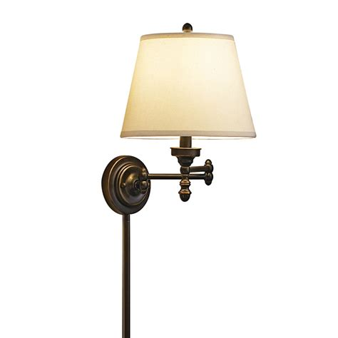 swing arm light wall mount shop allen roth 15 62 in h oil rubbed bronze swing arm