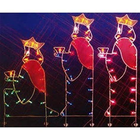 amazon com 66 quot three wisemen nativity silhouette lighted
