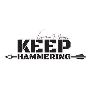 cameron hanes keep hammering sticker cameron hanes
