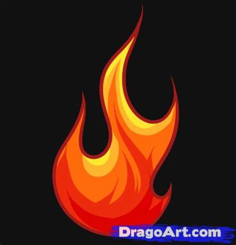 Drawing Flames by How To Draw A Step By Step Stuff Pop Culture
