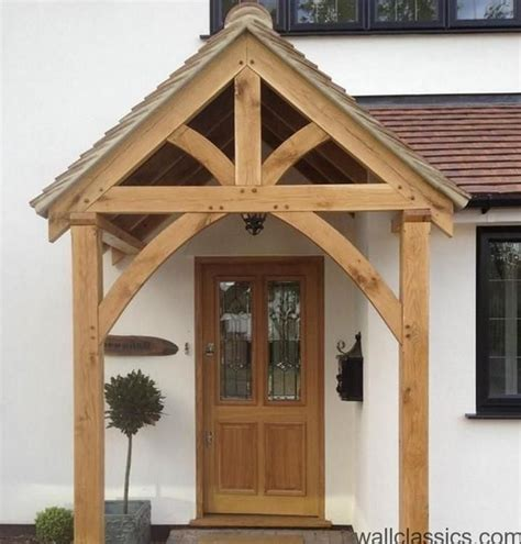 front door awnings wood porche entree maison abri pour