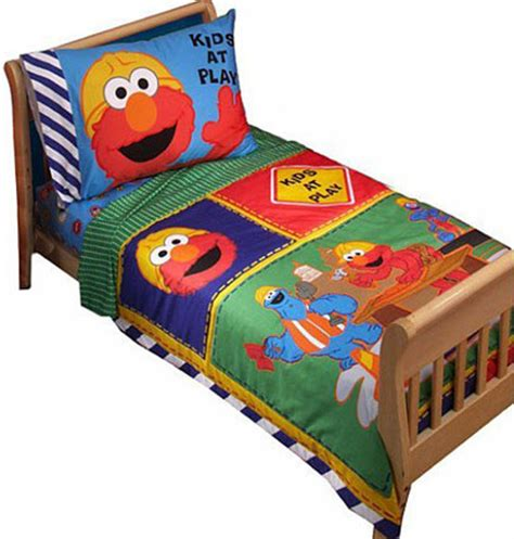 Sesame Street Elmo Toddler Bedding 4 Pc Set Toddler Elmo Bedding Set
