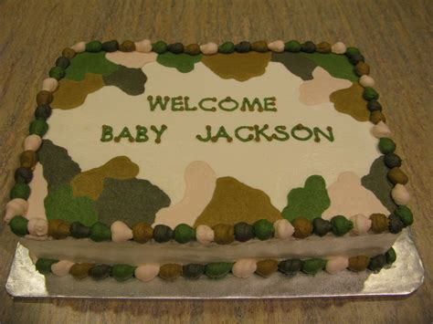 Camouflage Baby Shower by A Counselor S Confections Camo Themed Baby Shower Cake