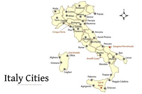 Map of Italy to See Which Cities to Visit