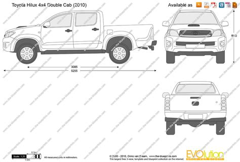 Toyota Hilux Bed Size The Blueprints Vector Drawing Toyota Hilux 4x4