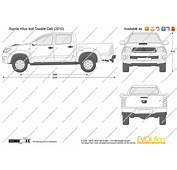 The Blueprintscom  Vector Drawing Toyota Hilux 4x4