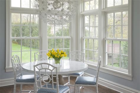 Chandelier Over Table Bungalow 5 Chloe Chairs Transitional Dining Room