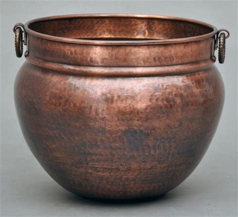 Large Copper Planter by Copper Planter Large 2 Sizes Traditional Indoor Pots