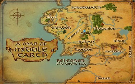 New Map of Middleearth for lotro? By lotro wiki.com
