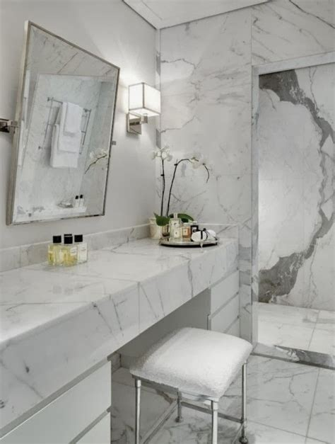 White Bathroom Tiles Ideas by Lost In Time Marmur W łazience
