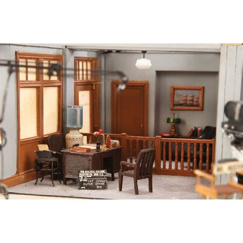 don tennant miniature set of sam spade s office from