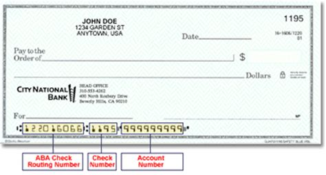 what is bank routing number on check