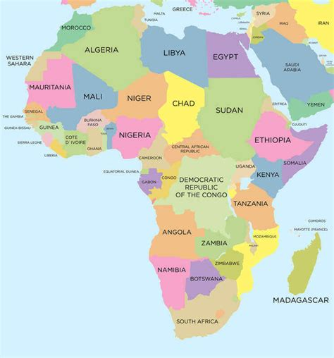 sections of africa africa map