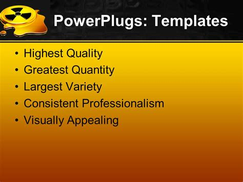 powerpoint templates free download radiation powerpoint template glowing yellow black radiation