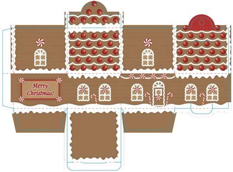 printable gingerbread house gingerbread package freebies pinterest