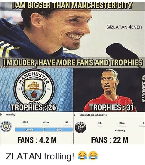 Man City Memes - tam bigger than manchester city ozlatan4ever