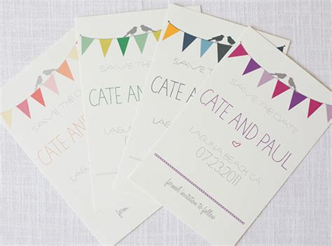 bunting wedding invitations diy bunting do it yourself save the dates